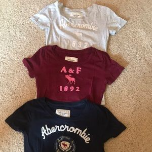 THREE Abercrombie t shirts